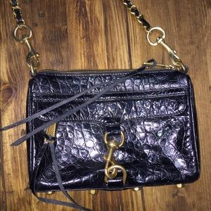 Rebecca Minkoff Black Snakeskin Crossbody Bag